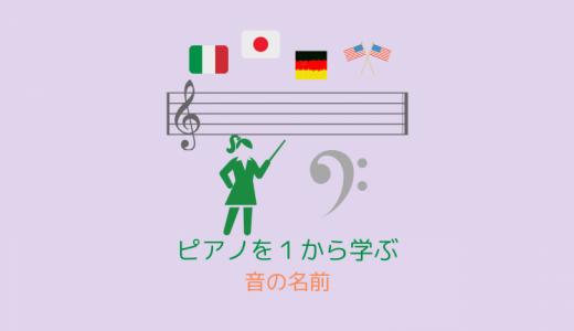 ピアノ入門-3「音の名前」