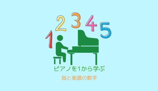 ピアノ入門-2「指と楽譜の数字」
