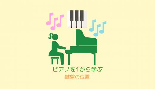 ピアノ入門-1「鍵盤の位置」