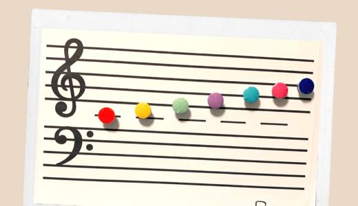 おんぷマグネットボードを手作りで音符を楽しくおぼえていこう!