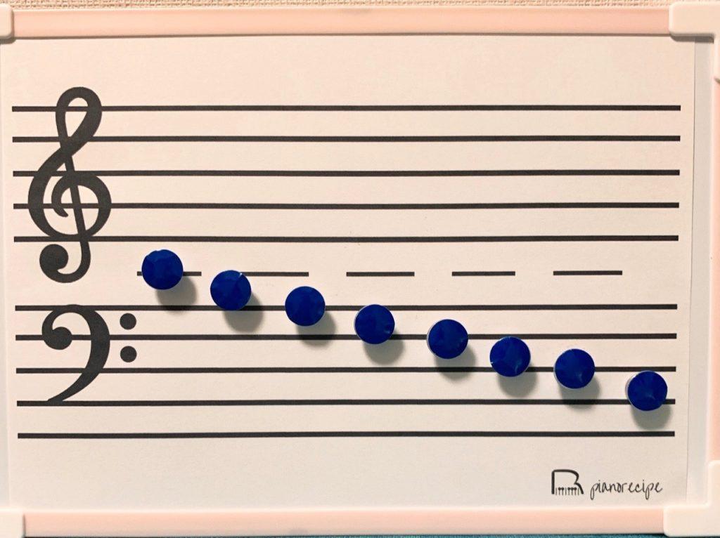 ピアノレシピ プレピアノ 音符マグネット