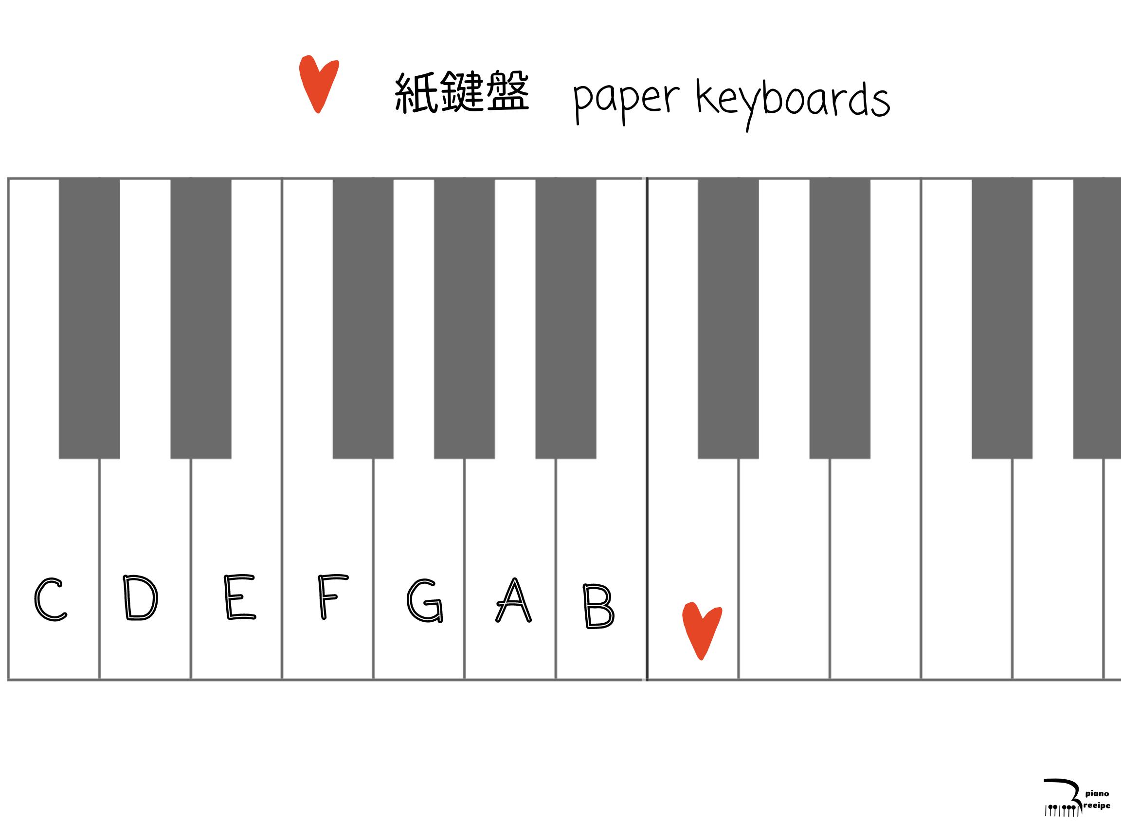 ピアノレシピ 紙鍵盤2