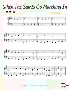 ピアノレシピ 聖者の行進
